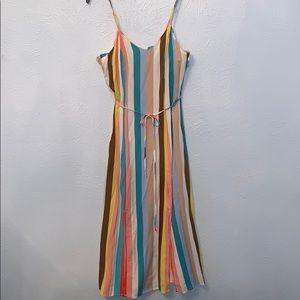 Double Front Spilt Target Dress